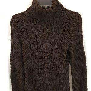 Ralph Lauren turtleneck cable knit sweater